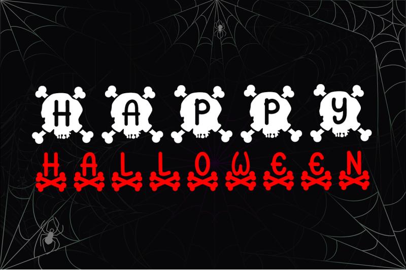 skull-monogram-font-trio-for-halloween