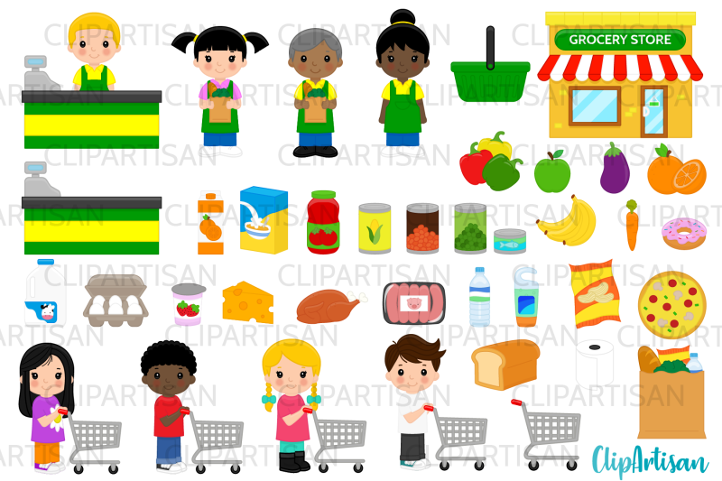 grocery-store-clip-art-groceries-shopping-shopping-cart-supermarke