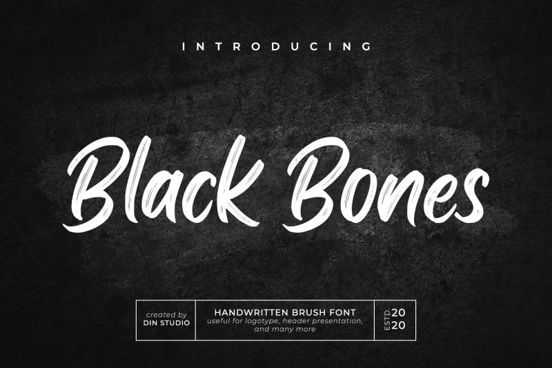 black-bones-brush-font