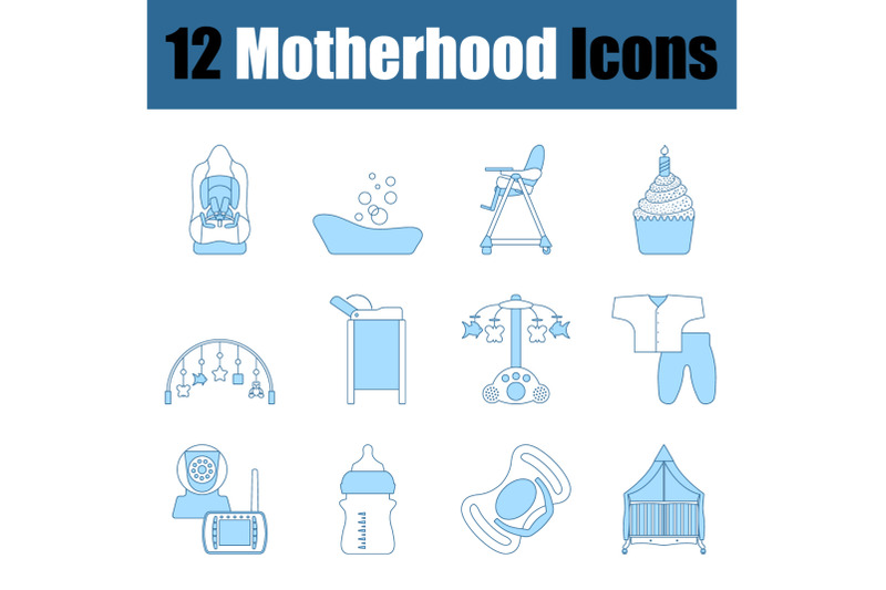 motherhood-icon-set