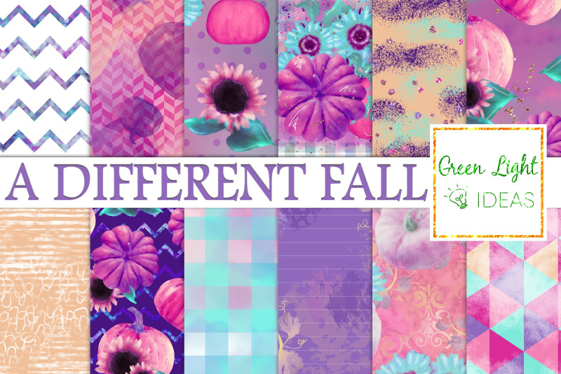 pumpkins-and-sunflowers-digital-papers-fall-backgrounds-autumn-paper