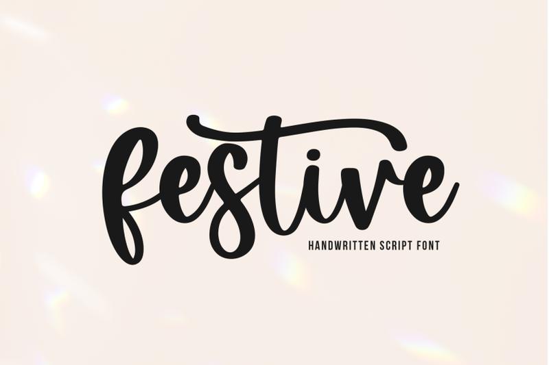 festive-handwritten-script-font