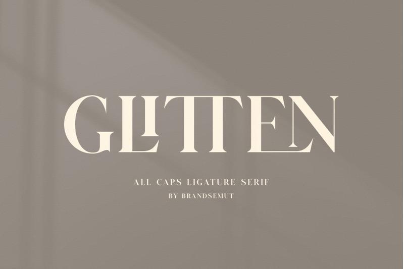 glitten-all-caps-ligature-serif