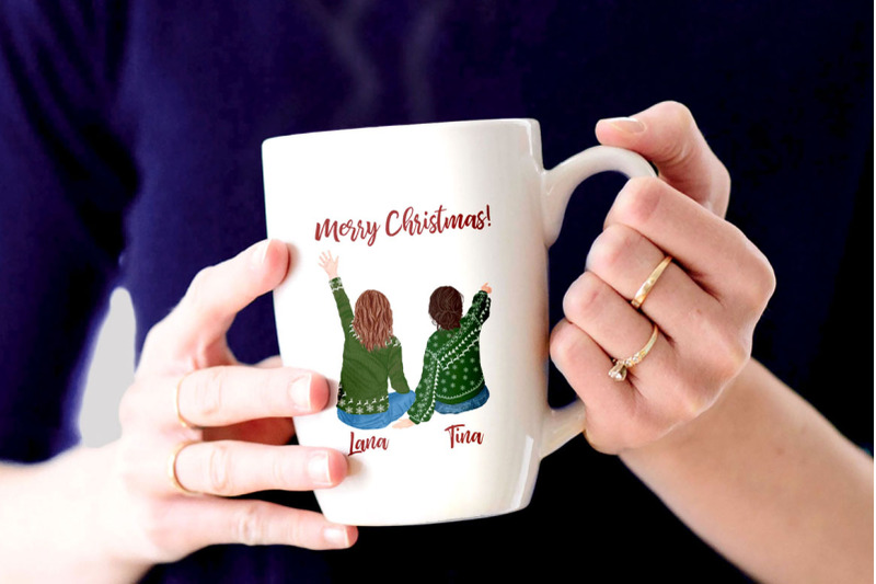 christmas-family-clipart-matching-sweaters-parents-with-kids