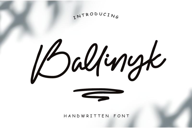 ballinyk-handwritten-font