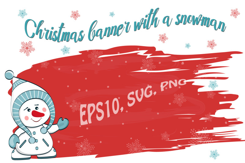 christmas-banner-with-a-snowman