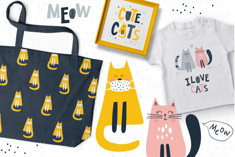 cute-cats-patterns