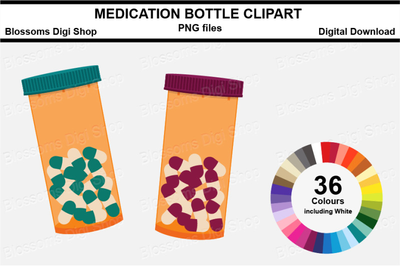 medication-bottle-sticker-clipart-36-files-multi-colours