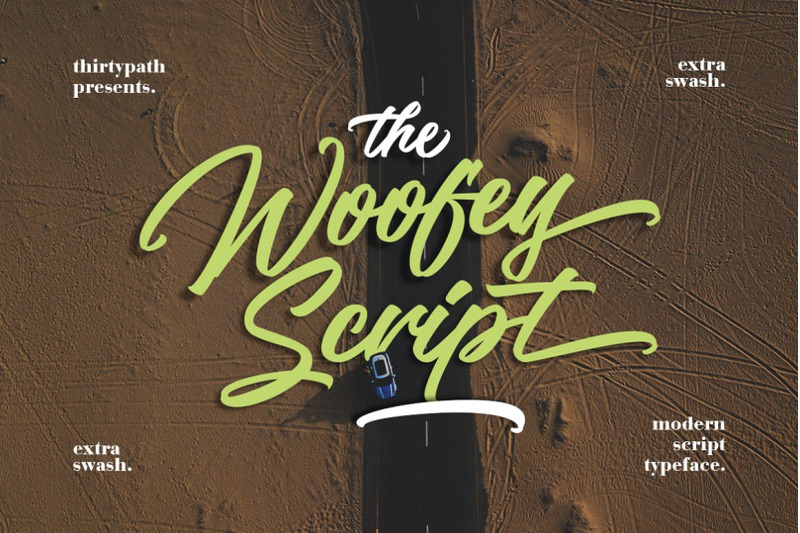 the-woofey-script-typeface