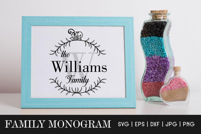 family-monogram-svg-family-name-sign-monogram-frames