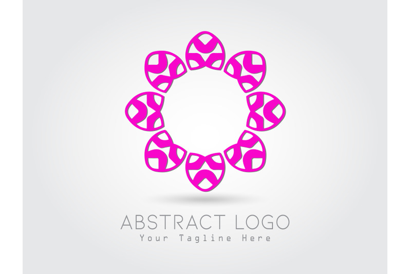 logo-abstract-flower-pink-color