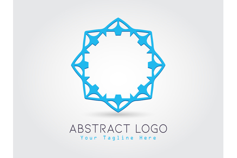 logo-abstract-blue-color-design