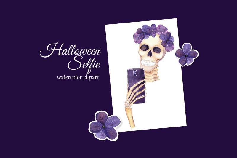 halloween-selfie-clipart-glam-skeleton