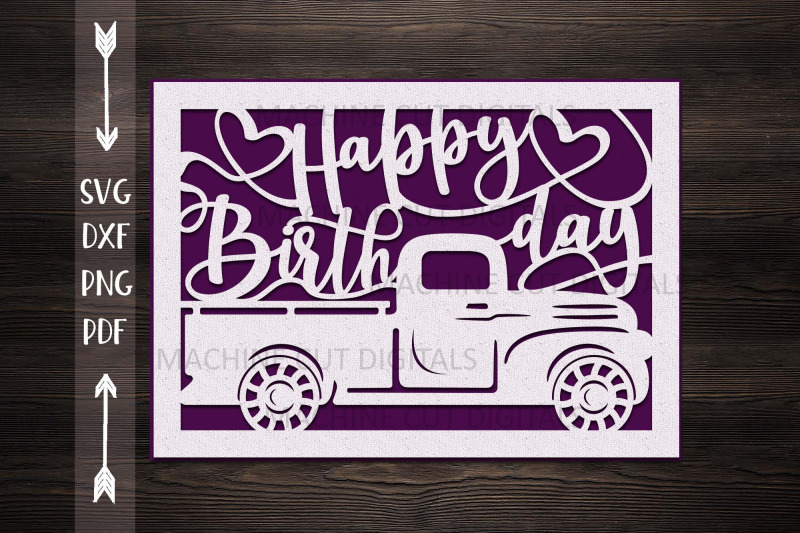 Download Happy Birthday card papercut svg laser cut cricut template ...