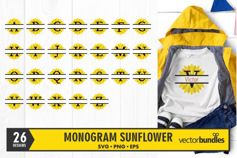 sunflower-monogram-split-svg