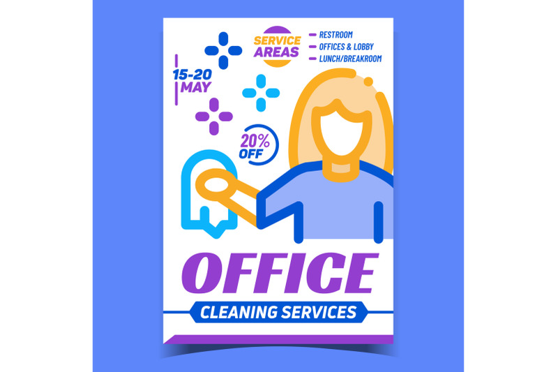 office-cleaning-service-advertising-poster-vector