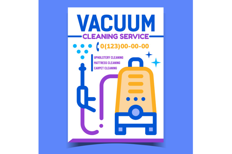 vacuum-cleaning-service-advertising-banner-vector