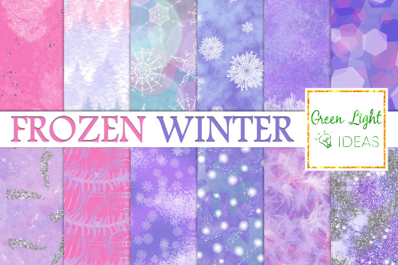 frozen-winter-backgrounds-snowflakes-textures-ice-digital-papers