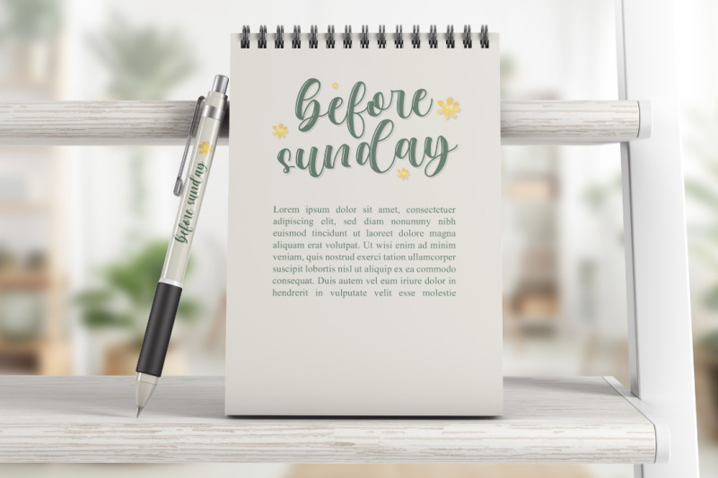 before-sunday-modern-calligraphy