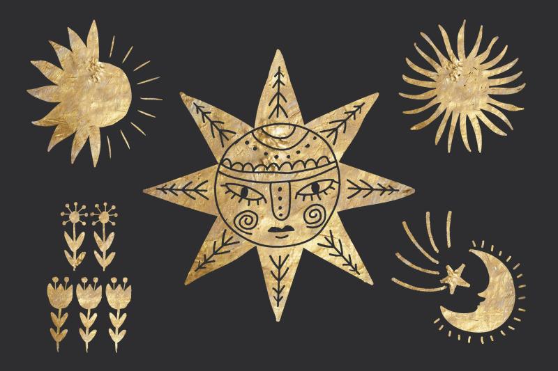 golden-kaleidoscope-vector-graphics