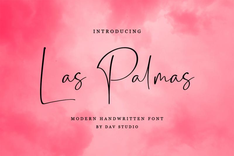 las-palmas-script-handwritten-font
