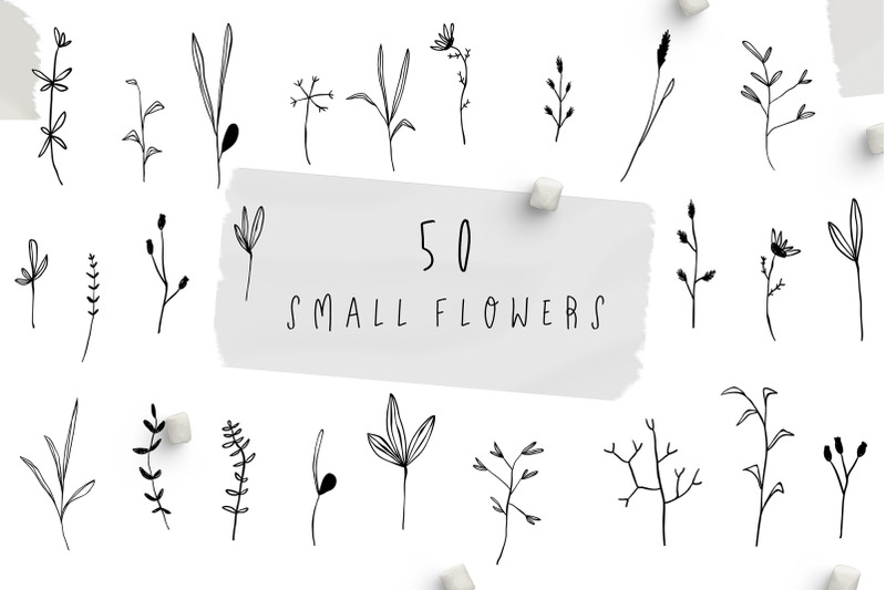 small-flowers-set