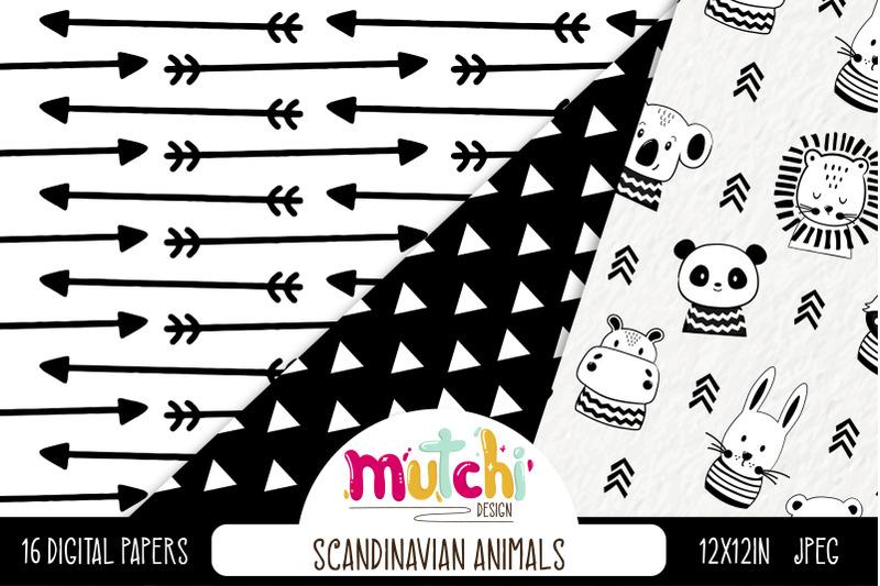 scandinavian-animals-digital-paper-set