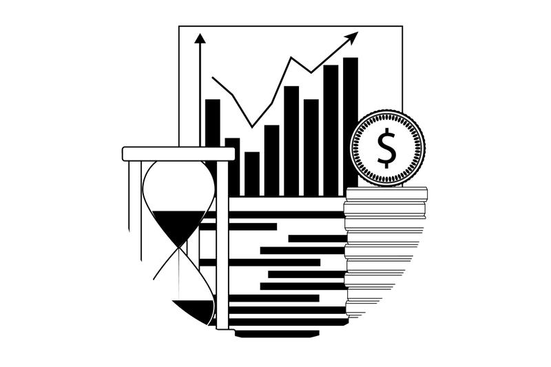 financial-analyze-growth-linear-icon