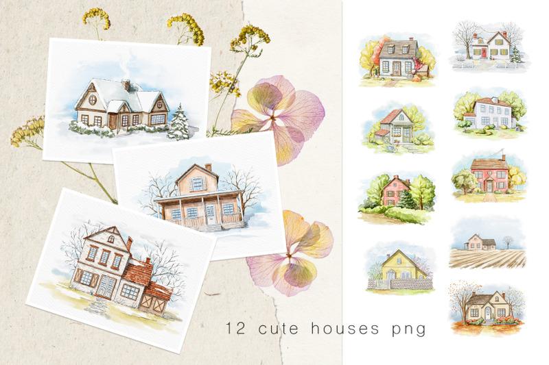 calendar-2021-cute-houses