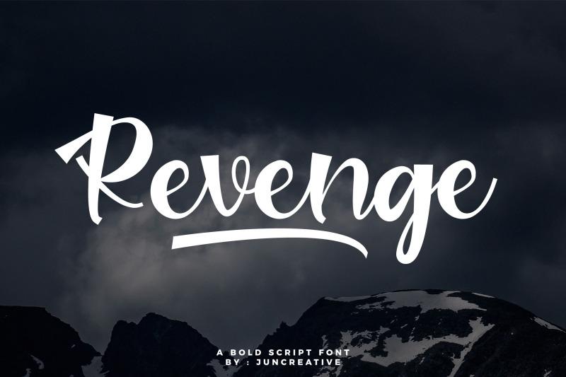 revenge-bold-script-font