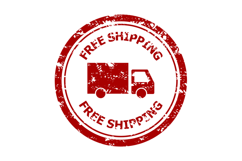 free-shipping-rubber-stamp-isolated-on-white