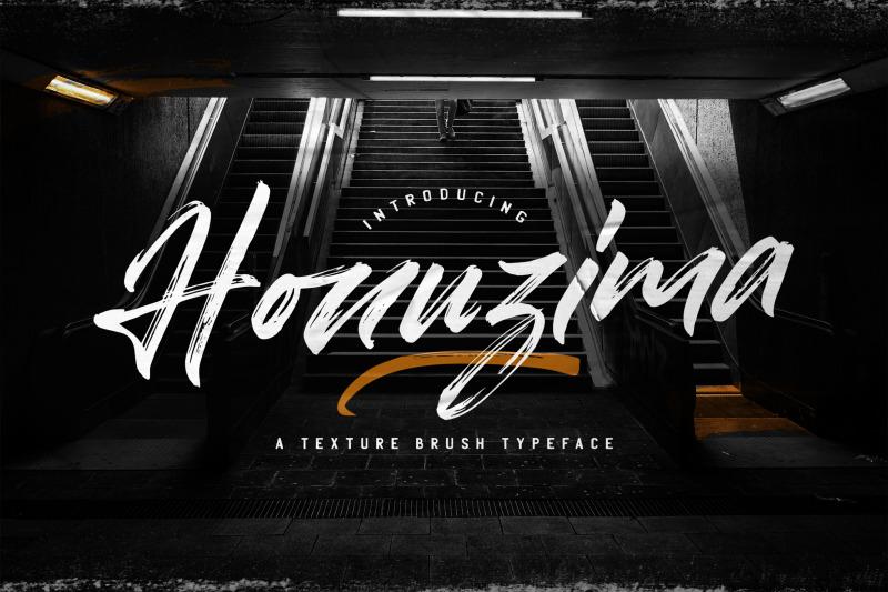 honuzima-handbrush-script-font