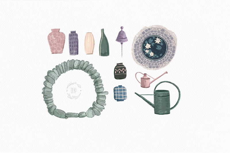 witch-garden-clipart-collection