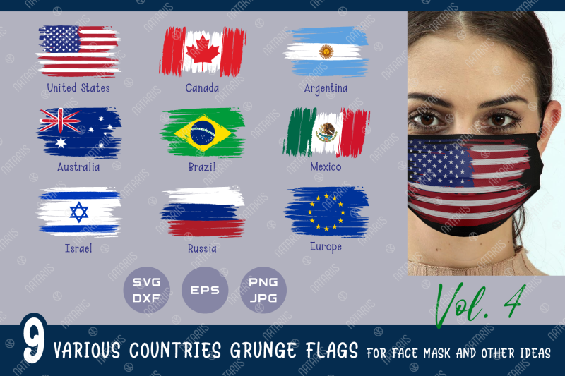 svg-bundle-9-various-countries-grunge-flags-for-face-mask