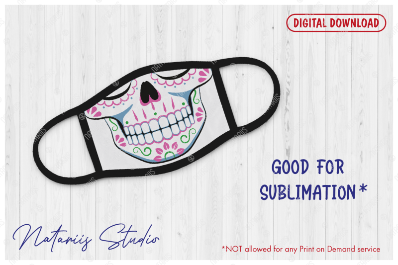 funny-sugar-skull-design-with-floral-pattern-for-face-mask