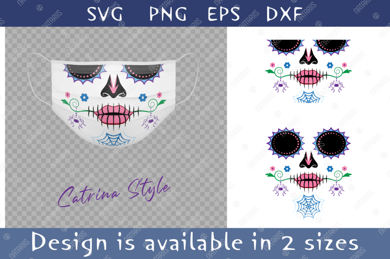 elegant-sugar-skull-with-colorful-spider-pattern