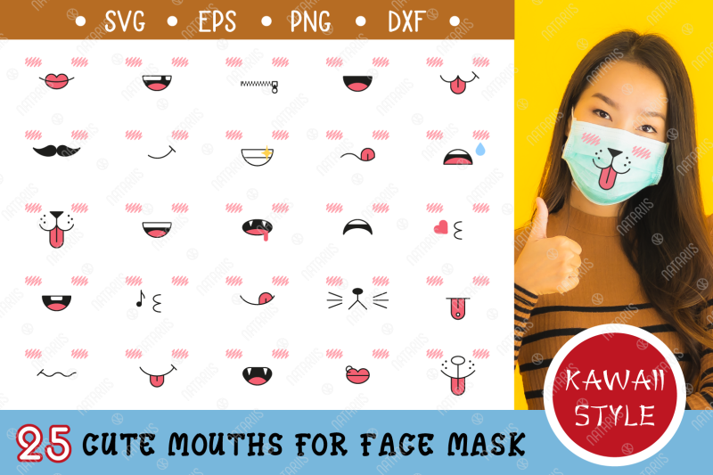 25-cute-mouths-for-medical-face-mask-svg-kawaii-style