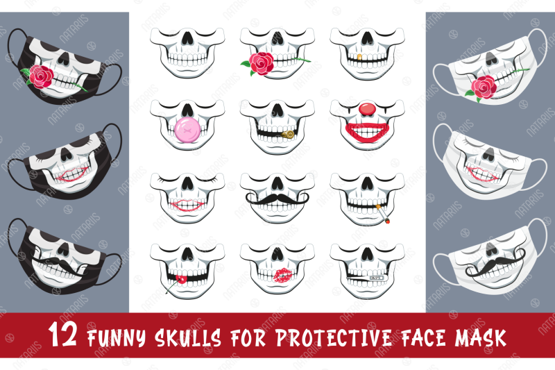 svg-bundle-12-funny-skulls-for-protective-face-mask