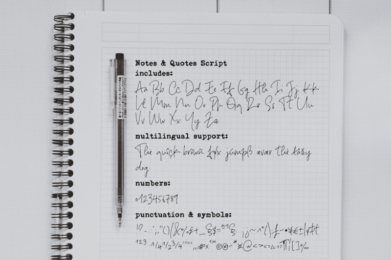notes-and-quotes-font-duo