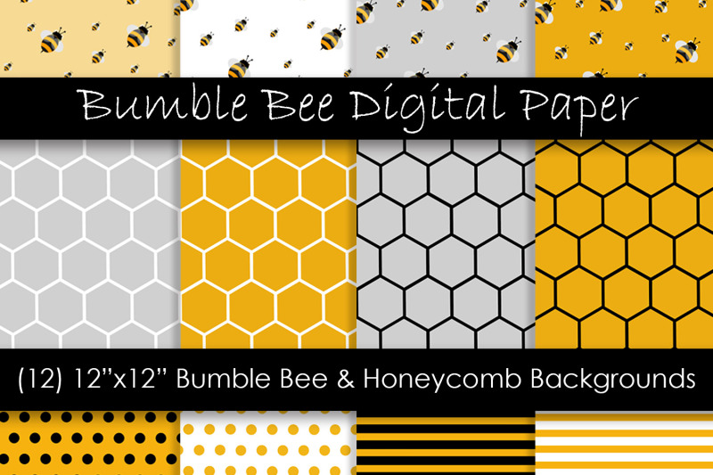 bumble-bee-and-honeycomb-patterns