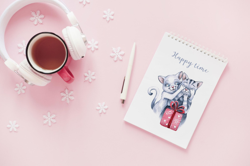 watercolor-christmas-illustrations-dogs-christmas-gifts
