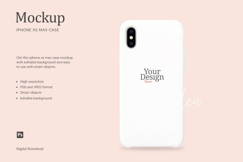 Download iPhone XS Max Case Mockup | Compatible With Affinity Designer Free Mockups