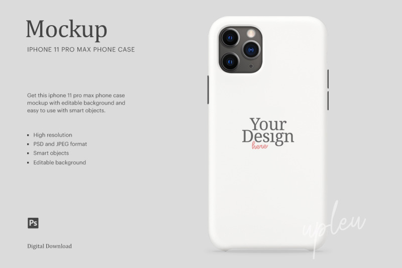 Download iPhone 11 Pro Max Case Mockup | Compatible With Affinity Designer Free Mockups