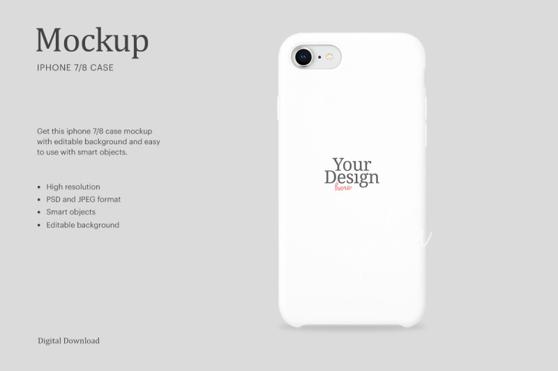 Download iPhone 7/8 Case Mockup   Compatible With Affinity Designer Free Mockups