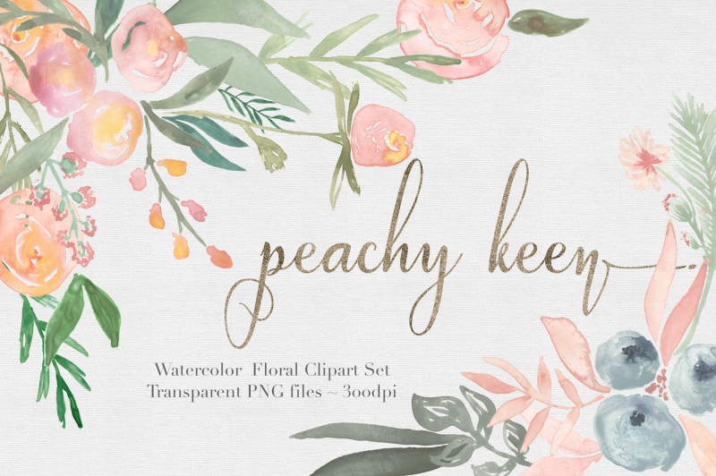 peachy-keen-watercolor-floral-clipart-set