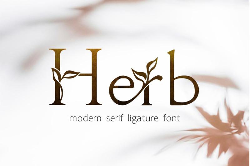 herb-floral-serif-ligature-font