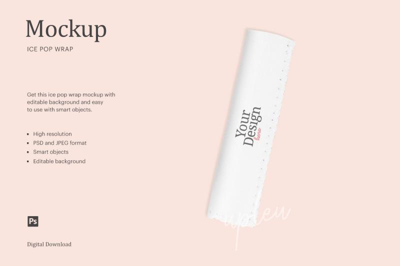 Download Popsicle Sleeve Mockup | Compatible With Affinity Designer Free Mockups
