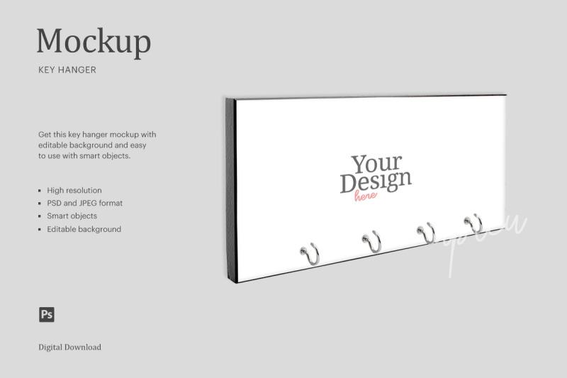 Download Wall Key Hanger Mockup   Compatible With Affinity Designer Free Mockups