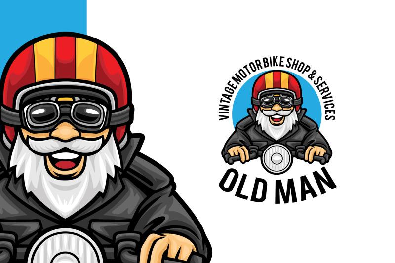 motorbike-shop-service-logo-template