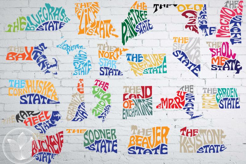 bundle-50-states-nickname-word-art-svg-dxf-eps-png-jpg-cut-file